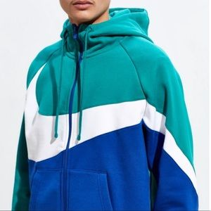 New - Nike Full-Zip Colorblock Hoodie Sweatshirt